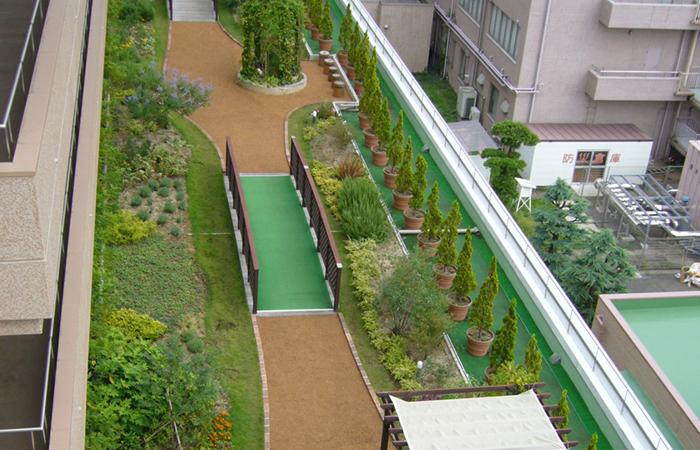 総合病院屋上庭園工事