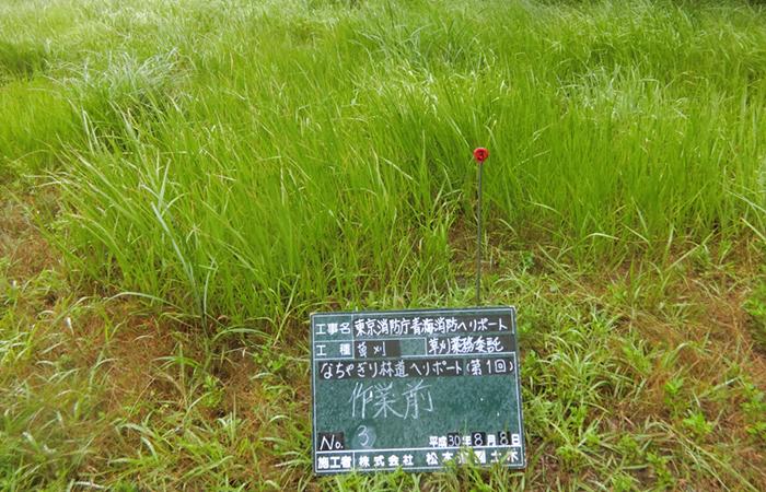 ヘリポート草刈作業